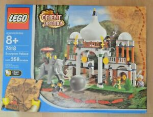 Lego 7418 Scorpion Palace COMPLETE Box Instr Game Minifig Elephant 1 dot replced