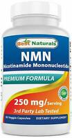 Best Naturals NMN Supplements Nicotinamide Mononucleotide 250mg/Serving 30 Ct