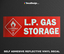 REFLECTIVE DANGER LPG WARNING STICKER LP Gas Bottle Sign Safety Decal #L002