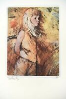 Thorton Utz Signed Limited Edition Numbered Photographic Art Print Young Woman