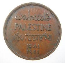 Palestine 1 Mil 1941 British Mandate Israel 14# World Money Coin