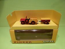 VEREM V842 .DODGE 6x6 + TRAILER - CIRCUS PINDER - RED YELLOW - EXCELLENT IN BOX