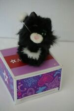 American Girl Licorice the Cat TLC One Eye Black White Faux Fur Articulated Tail