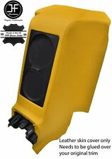 YELLOW REAR CENTRE SUBWOOFER PANEL REAL LEATHER COVER FITS GT-R R35 2009-2017
