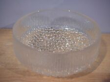 "Iittala Ultima Thule Footed Fruit Bowl 7.5"" Tapio Wirkkala Finland"