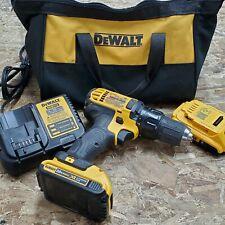 Dewalt 20v Dcd780 Drill Driver Kit Charger 2 Batteries Soft Case Tested Works