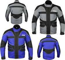 Giacche impermeabili grigi per motociclista cordura