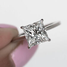 2.00 Ct Princess Cut Diamond Engagement Wedding Ring 14K White Gold Size 5 1/2 6