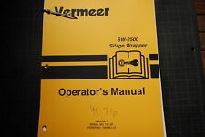 VERMEER SW2500 SILAGE WRAPPER Operator Owner Operation Manual book guide 1995 OE