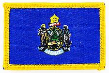 Ecusson Brodé PATCH drapeau MAINE USA AMERICAIN ETATS UNIS FLAG EMBROIDERED