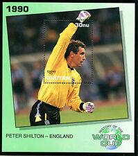 BHUTAN 1990 ITALY FOOTBALL WORLD CUP MINIATURE SHEET PETER SHILTON ENGLAND MNH