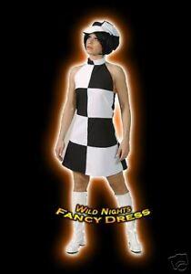 FANCY DRESS COSTUME * GO GO GIRL 60s disco lady 18