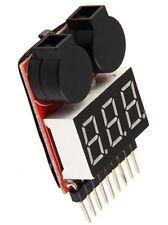 pour 1.8S Lipo/Li-ion/LiMn/Li-Fe batterie testeur basse tension alarme sonore