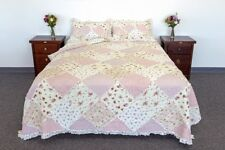 Quilts Coverlet Super King  Size 265cm x 285cm  Pink Rose  Inc 2 Pillowcase