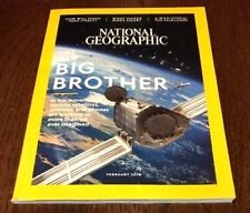 """NATIONAL GEOGRAPHIC MAGAZINE February 2018 """"The New Big Brother"""" new"""
