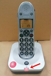 Hörgerätekompatibel Großtasten AUDIOLINE BigTel 100 Schnurloses Telefon