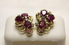Ruby & Diamond Earrings 0016