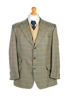 "Vintage Burberry's Anson's Window Pane Blazer Jacket UK Chest 45"" Multi - HT2504"