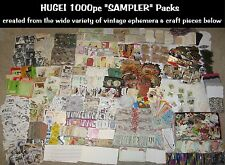 HUGE!1000pc Lots~Vtg Collage/Altered Art Mix~FUN!Scrapbook Junk Journal Ephemera