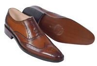Men Real Leather Shoes Handmade Formal Dress Brogues With Real Leather Sole