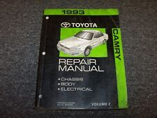 1993 Toyota Camry Shop Service Repair Manual Vol2 DX LE XLE SE 2.2L 3.0L V6