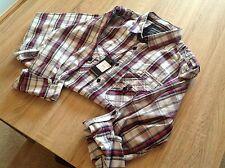 Men's Kurt Muller Tab Pocket Checkered Shirt. Cerise/Black UK Size Large.