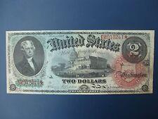 SCARCE 1869 USA/UNITED STATES RAINBOW SERIES $2 BANKNOTE CRISP aVF