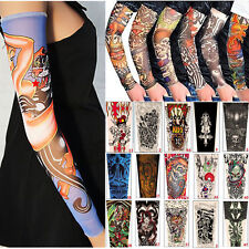 3PAIRS Multi Design Temporary Tattoo Stretchy Cool Sleeves Fashion Arm Stockings