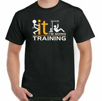 Gym T-Shirt Training Mens Funny Weight MMA Bodybuilding Top Motivation I'm Going