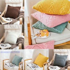 Knitted Pillowcase Cushion Cover Soft Sofa Office Casual Home Throw Pillow Cover