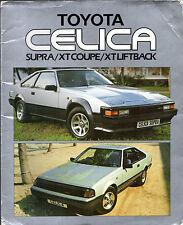Toyota Celica 2.0 XT & 2.8i Supra 1984-85 UK Market Sales Brochure Portfolio