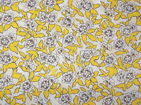 "LIBERTY ART FABRICS ""DYNASTY C"" PER HALF METRE floral tana lawn cotton YELLOW"
