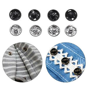 24Pcs Mini Buttons Buckles for DIY Doll Clothes 6mm Metal Buckle Invisible Snap#