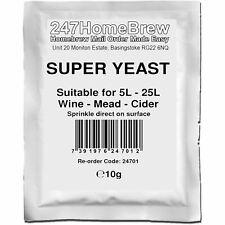 Super Wine Yeast 5-25L Homebrew Wine, Mead, Cider, Ginger Beer, Turbo Cider