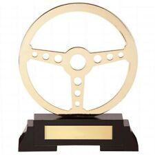 Motorsport Trophies Arcadia Gold Steering Wheel Trophy 190mm high FREE Engraving