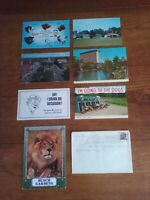 LOT OF 8 - ONE ENVELOPE & 7 POSTCARDS WITH PRESIDENT STAMPS, USED 1960-1990'S