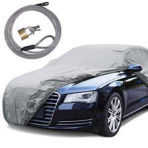 "Rain Tech  Outdoor Car Cover Anti UV Rain Water Resistant (190"") W/ Secure Lock"