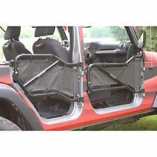 Black Mesh Tube Door Cover Kit Front & Rear Jeep Wrangler 2007-2017 J0041084