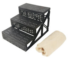 New Soft Portable Cat Dog 3 Steps Ramp Small Climb Pet Step Stairs Beige