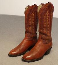"Vintage Laramie Western Cowboy Exotic Shark Riding boots men's size 8D "" Usa """