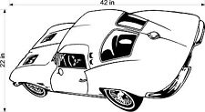 CORVETTE 1967 VINYL DECAL FOR GARAGE WALL / TRAILER / TOOLBOX CLASSIC CAR