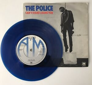 """THE POLICE - 1978 - *blue vinyl* - """"CAN'T STAND LOSING YOU"""" - AMS7381 - *EX/EX*"""