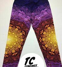 LuLaRoe TC Leggings Floral Mandala Sunburst🦄HTF Major Unicorn New!