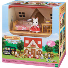 Sylvanian Families Red Roof Cosy Cottage Doll House with Chocolate Rabbit Girl
