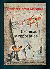 CRONICAS Y REPORTAJES BOOK BY GABRIEL GARCIA MARQUEZ ED. LA OVEJA NEGRA