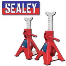 SEALEY VS2002 AXLE STANDS PAIR 2 TONNE CAPACITY PER STAND RACHET TYPE CAR VAN