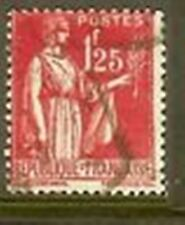 """FRANCE TIMBRE STAMP N° 370 """" PAIX 1F25 ROSE """" OBLITERE TB"""