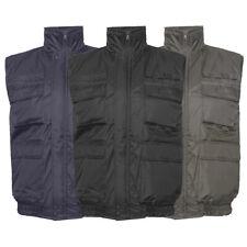 Chaleco para hombre de carga con cremallera utilidad múltiples bolsillos forro polar cálida Casual Fit