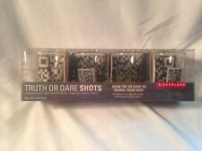Shot glasses Truth or Dare Set of 4 Kikkerland-New In Package-Factory Sealed