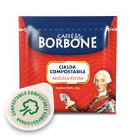600 CIALDE ESE 44 MM FILTRO CARTA CAFFE BORBONE MISCELA ROSSA